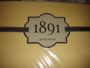 1891 Sferra Opera 5250 Full Queen Blanket Canary Yellow New