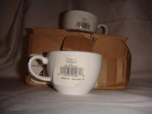 Wedgwood Eternity Bone White China Espresso Demitase Cups Set of 4 New in Box