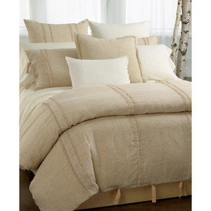Dkny Pure Lace  Ivory King Quilt Set New