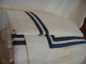 Pratesi White With Royal Blue  Double Tape Insert New