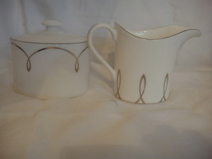 Waterford Lismore Essence Covered Sugar Bowl And Creamer New