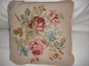 Ralph Lauren Highfields Needlepoint 14 x14 Square Throw Pillow New