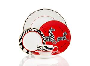 Scalamandre Zebra 5pc Dinnerware Place Setting by Lenox