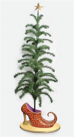 Dept 56 Jingle Shoe Display Christmas Tree  7FT  NIB $1500 796937