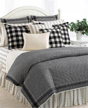 Ralph Lauren Winter Cottage King Black Cream Comforter Set 10PC New
