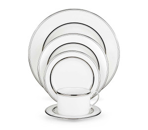 """Kate Spade new york """"Library Lane Platinum"""" China 24  Place Settings with Soup"""