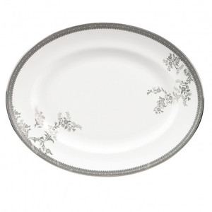 Vera Wang by Wedgwood Vera Lace 13.75 Inch Oval Platter