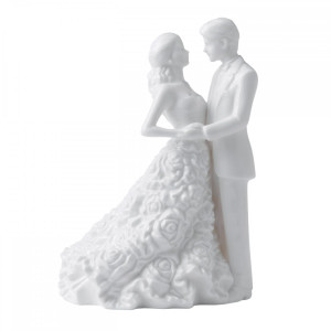 Monique Lhuillier  By Waterford Modern Love Bride & Groom Cake Topper