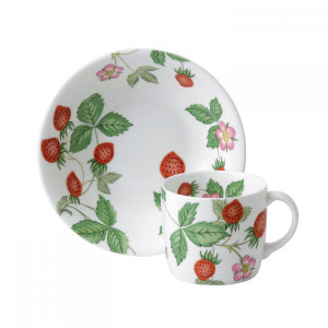 Wedgwood Wild Strawberry Child's Small Mug & Bowl 2-Piece Set
