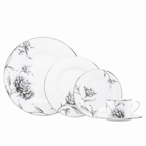 Marchesa by Lenox Dinnerware Floral Illustrations 5pc Place Setting