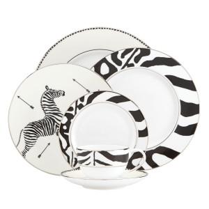 Scalamandre Zebras Platinum 5-piece Place Setting by Lenox