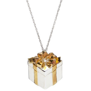 Sterling Silver Diamond Pendant Necklace For Mother