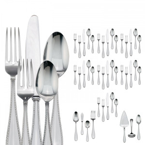 Vera Wang  Vera Lace 18/10 stainless 67 pc Flatware set for 12