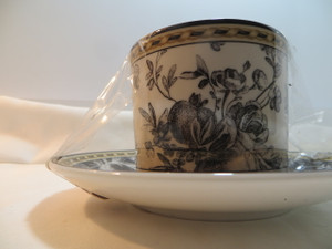 Royal Doulton Provence Noir Cup and Saucer New