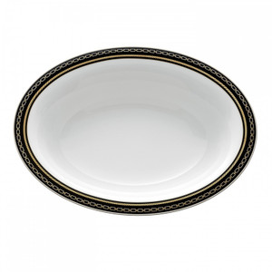 Vera Wang Wedgwood With Love Noir Oval Open Vegetable