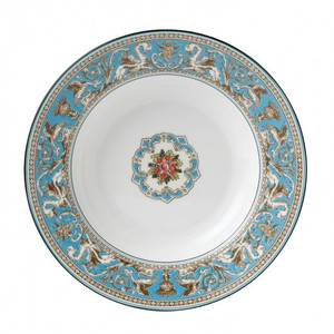 Wedgwood Florentine Turquoise Rim Soup Bowl