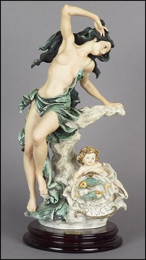 "Giuseppe Armani Figurine Pisces 0171C Zodiac ""Pisces"""