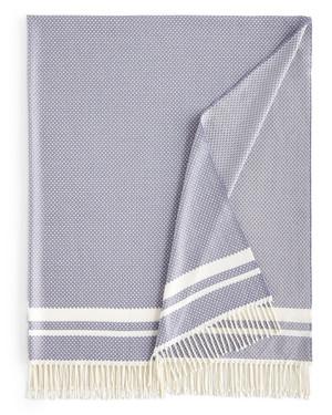 Sferra Nia Merino Wool Cashmere Silk Throw Amethyst