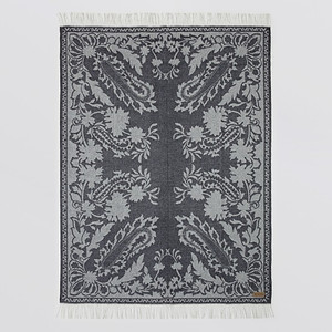 Sferra Celano Cashmere Throw Charcoal Grey
