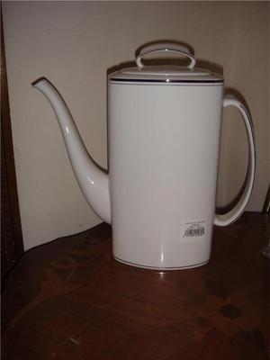 "Kate Spade New York ""Library Lane Platinum"" Coffeepot Coffee pot New"