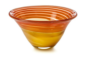 Waterford Evolution Red & Amber 8IN Bowl New