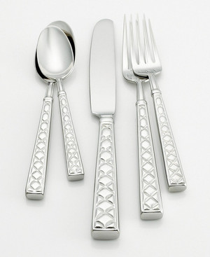 Kate Spade Classic Quilted Flatware  69PC Set New
