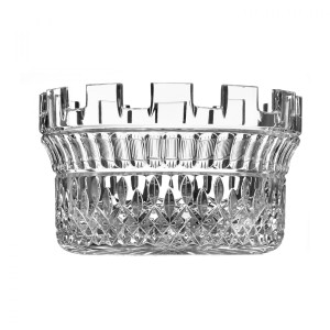 """House of Waterford Lismore 10"""" Crystal Diamond Cut Castle Bowl"""
