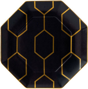 Wedgwood Arris Accent Plate Octagonal Charcoal 9.1