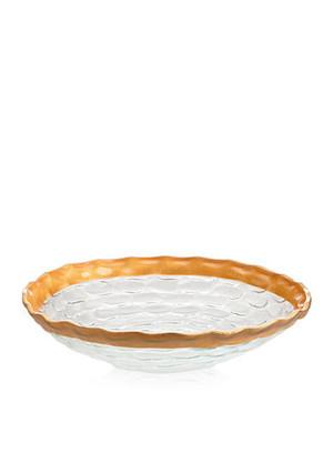 Michael Wainwright Truro Gold glass Medium Shallow Bowl