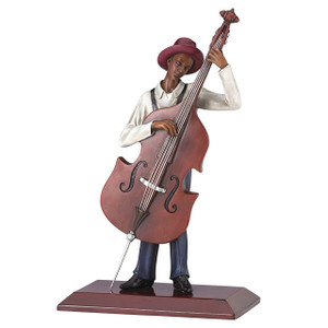 The Bassist Figurine by John Holyfield  Ebony Visions New First Issue
