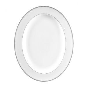 Monique Lhuillier Waterford Dentelle Oval Medium Platter