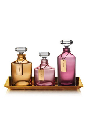 Waterford 'Rebel' Lead Crystal Decanters & Tray Set of 4 New
