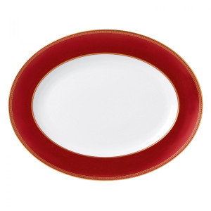 Renaissance Red Oval Platter, by Wedgwood