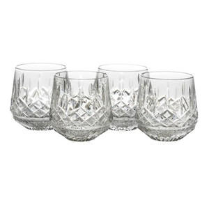 Waterford Four-Piece Lismore Old Fashion Glasses Roly Poly