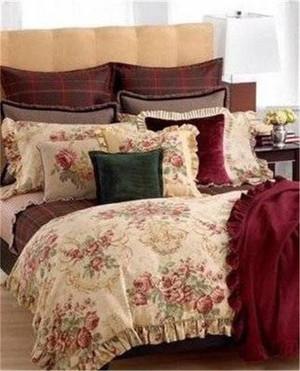 Ralph  Lauren Grosvenor Square Floral Queen 8PC  Comforter  Set