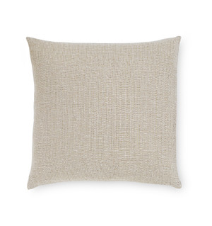 "Sferra Perlo Decorative Throw Pillow, Oatmeal 22"" x 22"""
