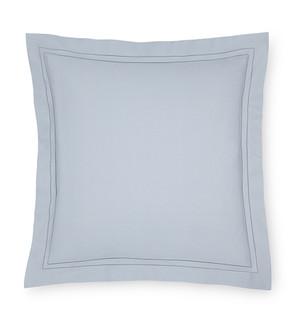 Sferra Finna Cotton Percale Continental Sham Flint Grey New