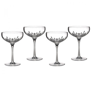 Waterford Lismore Essence Champagne Saucer, Set of Four