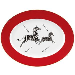 "Lenox Scalamandre Zebras Oval Platter 13"""