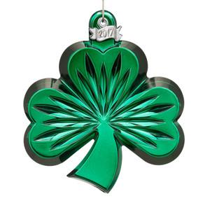 2017 Waterford Crystal Shamrock Christmas Ornament, Green
