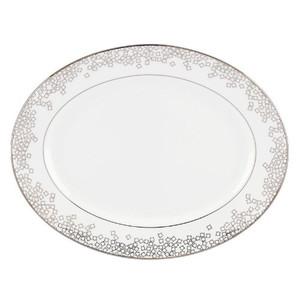 Brian Gluckstein by Lenox Starlet Silver 13in Oval Platter New