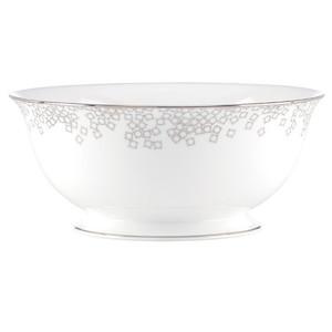 Brian Gluckstein Starlet Silver Round Vegetable Bowl by Lenox