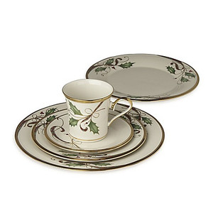 Lenox Holiday Nouveau Gold  3PC Place Setting With Lunch Plate And Mug New