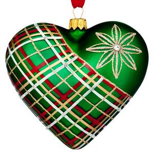 Waterford Nostalgic Plaid Heart Ornament