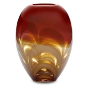 Waterford Red & Amber Ginger Vase