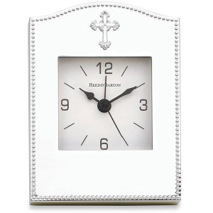 Reed And Barton Abbey Silverplate Clock New