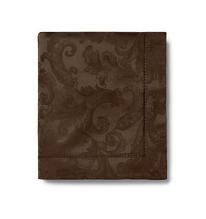 Sferra Acanthus Tablecloth  & 8 Napkins Chocolate 70 x 144
