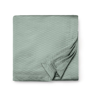 Sferra Favo Full Queen Blanket Cover Seagreen New
