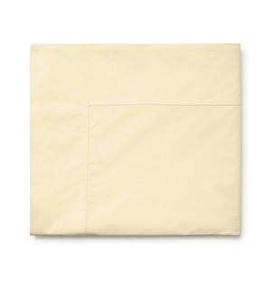 Sferra Isabella 500TC Percale King Flat Sheet Butter New