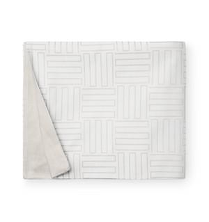 Sferra Andello Full Queen Duvet Cover Cotton Linen  Latte